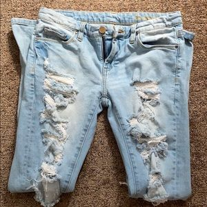 BLANK NYC distressed ripped jeans